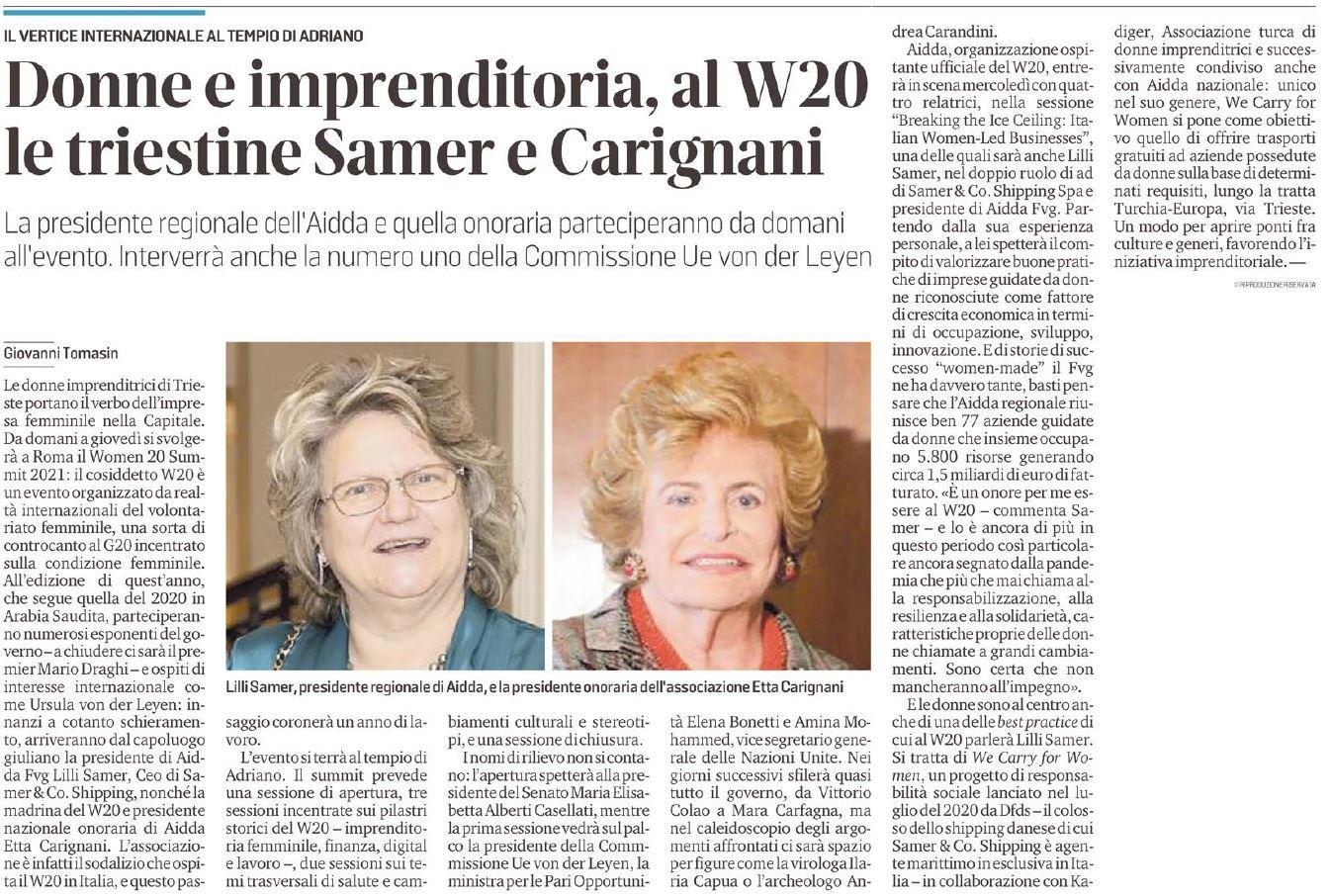 WOMEN 20 SUMMIT 2021_LILLI SAMER_MARCHESA CARIGNANI