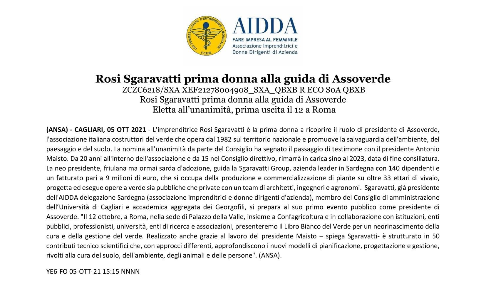 Comunicato Stampa - Rosi Sgaravatti prima donna alla guida di Assoverde - 5 ottobre 2021.jpg